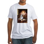 The Queen's Corgi (Bl.M) Fitted T-Shirt