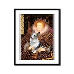 The Queen's Corgi (Bl.M) Framed Panel Print