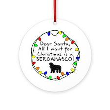 Dear Santa Bergamasco Christmas Ornament