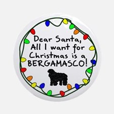 Dear Santa Bergamasco Christmas Ornament