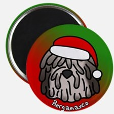 Cartoon Bergamasco Christmas Magnet (Fawn)
