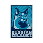 Obey the RUSSIAN BLUE! Magnets (10 pack)