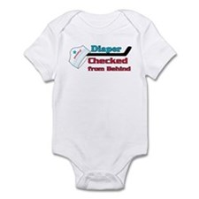 diaper checked Infant Bodysuit