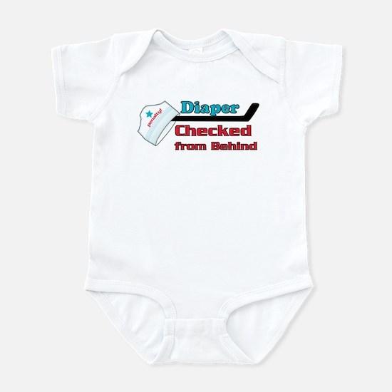 diaper checked Infant Bodysuit