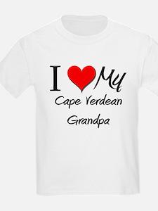 I Love My Cape Verdean Grandpa T-Shirt