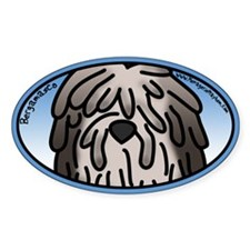 Anime Fawn Bergamasco Oval Decal