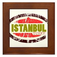 Cute Istanbul city Framed Tile