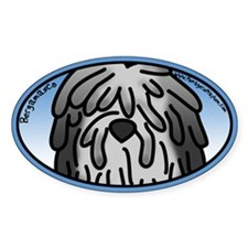 Anime Bergamasco Oval Decal