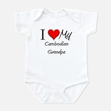 I Love My Cambodian Grandpa Infant Bodysuit