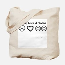 Peace, Love & Twins Tote Bag