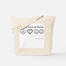 Peace, Love & Twins Tote Bag