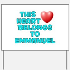 This Heart: Emmanuel (E) Yard Sign