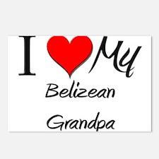 I Love My Belizean Grandpa Postcards (Package of 8