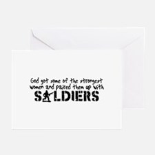Funny Proud army girlfriend Greeting Cards (Pk of 10)