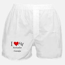 I Love My Barbadian Grandpa Boxer Shorts