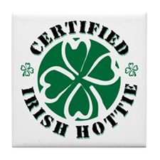 Certified Irish Hottie Tile Coaster