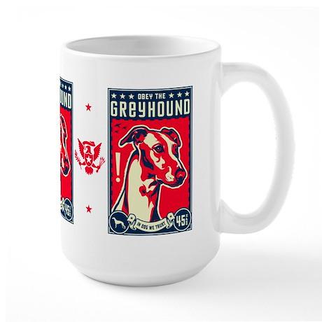 Obey the Greyhound! American Large Mug