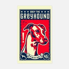 Obey the Greyhound! Rectangle Decal