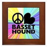 Basset hound framed tile Framed Tiles