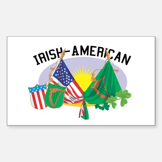Irish-American Rectangle Decal
