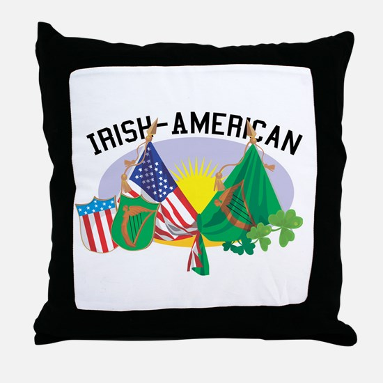 Irish-American Throw Pillow