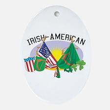 Irish-American Oval Ornament