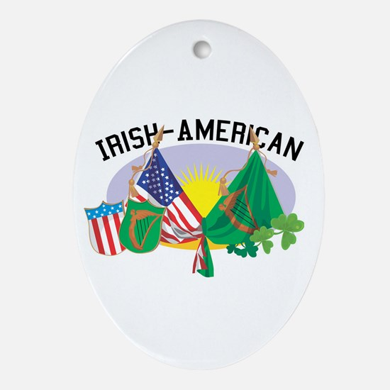 Irish-American Oval Ornament