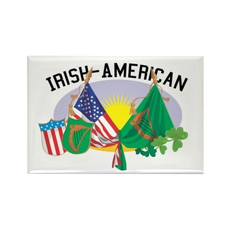 Irish-American Rectangle Magnet