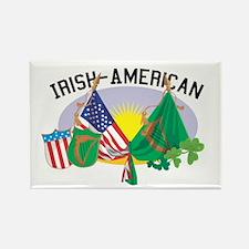 Irish-American Rectangle Magnet