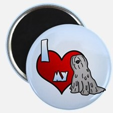 Love Grey Bergamasco Magnet