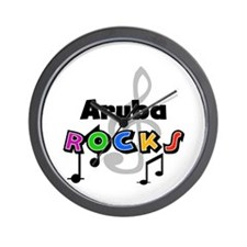 Aruba Rocks Wall Clock