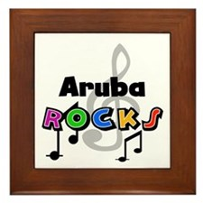 Aruba Rocks Framed Tile