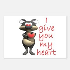I Give You My Heart Postcards (Package of 8)