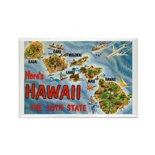Greetings from Hawaii Rectangle Magnet (10 pack)