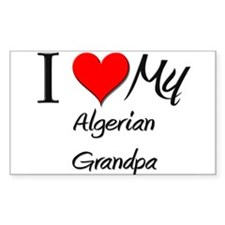 I Love My Algerian Grandpa Rectangle Decal
