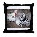 Champion Trumpeter Pigeons Throw Pillow