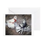 Champion Trumpeter Pigeons Greeting Card
