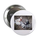 "Champion Trumpeter Pigeons 2.25"" Button (100"
