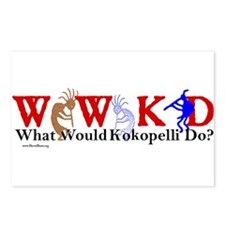 What Would Kokopelli Do? d31 Postcards (Package of