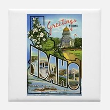 Greetings from Idaho Tile Coaster