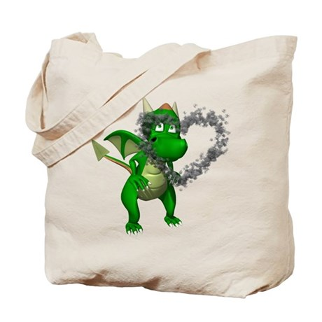 Smokey Heart Dragon Tote Bag