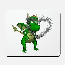 Smokey Heart Dragon Mousepad