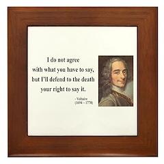 Voltaire 1 Framed Tile
