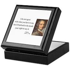 Voltaire 1 Keepsake Box