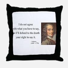 Voltaire 1 Throw Pillow