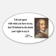 Voltaire 1 Oval Decal