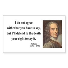 Voltaire 1 Rectangle Decal