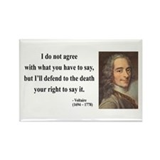 Voltaire 1 Rectangle Magnet