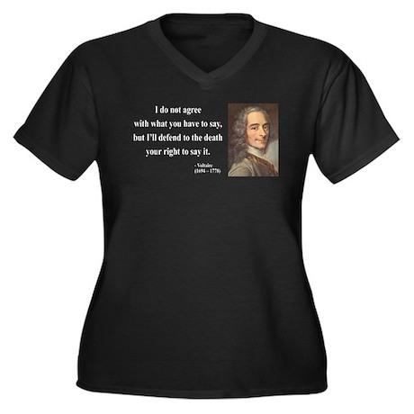 Voltaire 1 Women's Plus Size V-Neck Dark T-Shirt