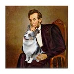 Lincoln's Corgi (Bl.M) Tile Coaster